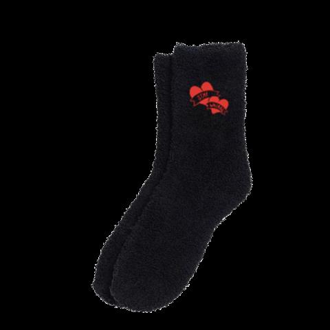 √Yungblud Stay Weird Black Fuzzy Holiday von Yungblud - socks jetzt im Yungblud Shop